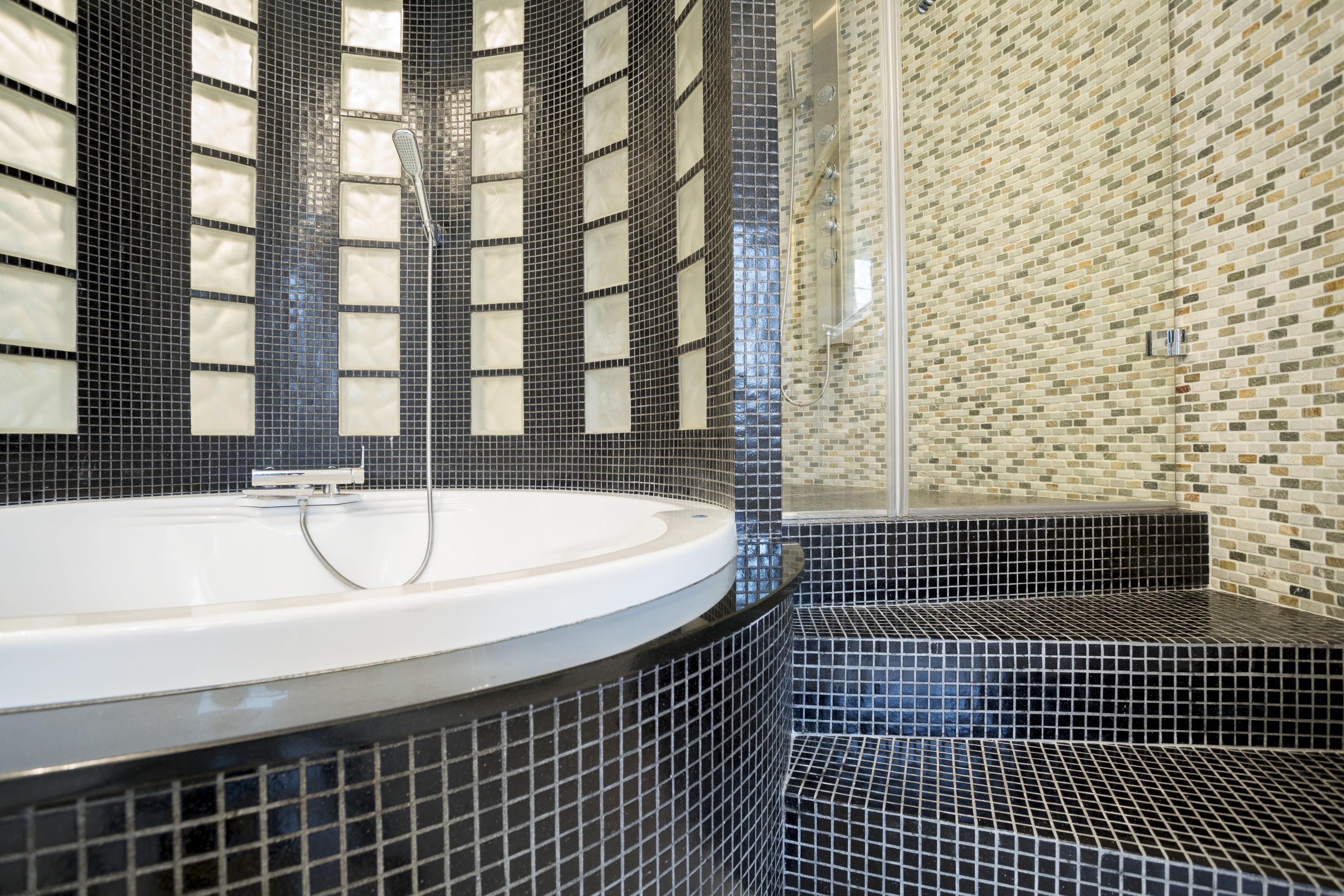 heated flooring bath remodel